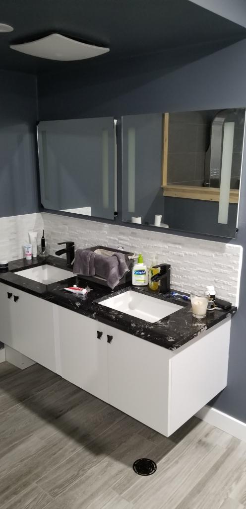 Custom Designed Floating Vanity Cabinets