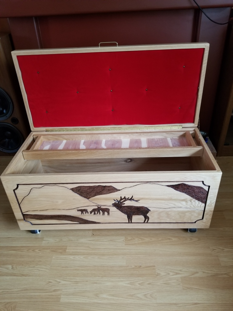 Solid Wood Carved Jewellery Boxes